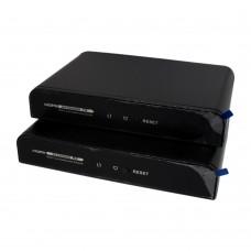 Комплект для передачи HDMI по любым двухпроводным кабелям  с обратным IR и RS-232 каналом на 300 метров