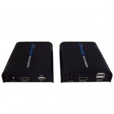 """Комплект для передачи HDMI по """"витой паре"""" и Ethernet с USB"""