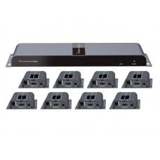 "HDMI разветвитель 1 вход на 8 выходов по ""витой паре"" до 40 м( сплиттер 1x8 )"